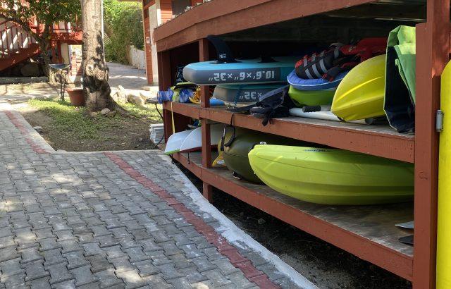Property – kayak storage area